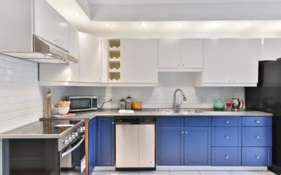 Diseños de cocinas en azul