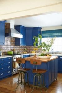 cocinas en azul