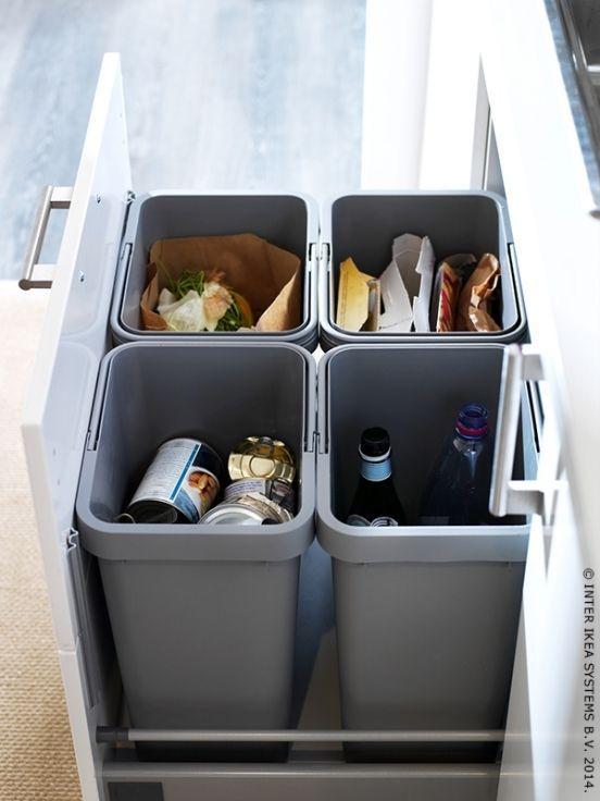 papelera reciclaje cocina sostenible