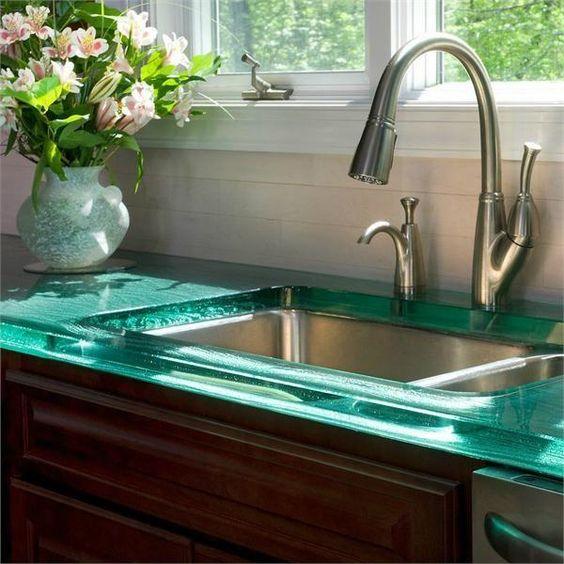 encimera cocina de cristal
