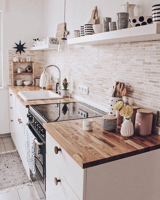 encimeras de cocina madera