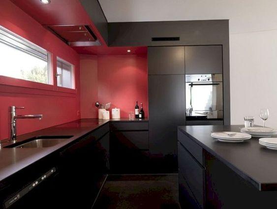 diseño cocinas rojas