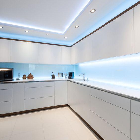 iluminación cocina de lujo